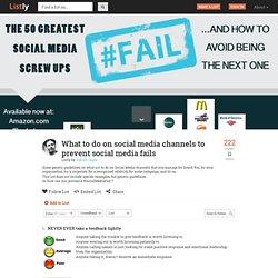 Preventing social media fails