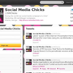 Social Media Chicks (@SMChicks) sur Twitter