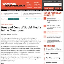 Pros and Cons of Social Media in the Classroom