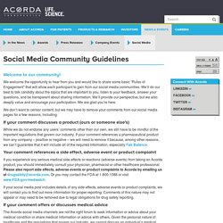 Social Media Community Guidelines