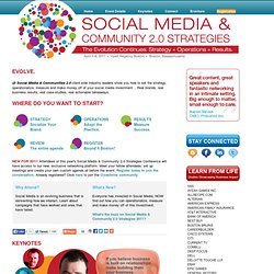 Social Media & Community 2.0 Strategies