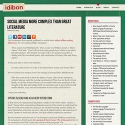 Social media more complex than great literature - Idibon