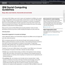 Social Computing Guidelines