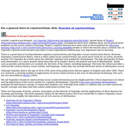Social Constructivist Theories