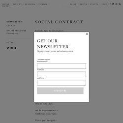 Social Contract - The White Review
