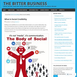 What is Social Credibility – The Bitter Business