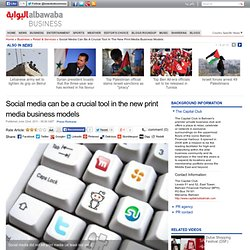 Social media can be a crucial tool in the new print media business models