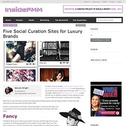Five Social Curation Sites for Luxury Brands