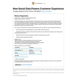 How Social Data Powers Customer Experience