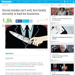 Is social media too dangerous for business?