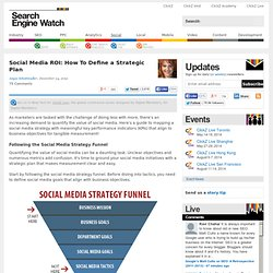 Social Media ROI: How To Define a Strategic Plan — searchenginewatch