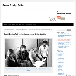 Social Design Talk 16: Designing social design toolkits