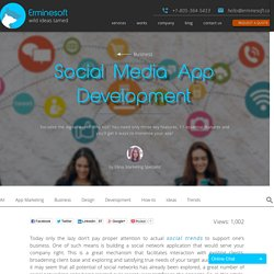 Social Media App Development - Erminesoft