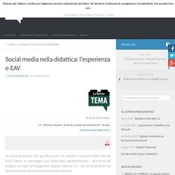 Rivista Bricks - Social media nella didattica: l'esperienza e-EAV