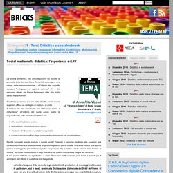 Bricks: Social media nella didattica: l'esperienza e-EAV