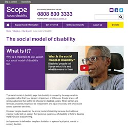 What is the social model of disability?