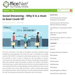Social Distancing – Why it is a must to beat Covid-19?