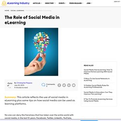 The Role of Social Media in eLearning - eLearning Industry