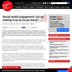 Social media engagement: are we making it up as we go along?