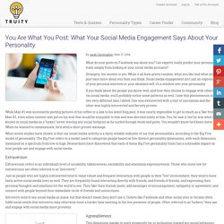 You Are What You Post: What Your Social Media Engagement Says About Your Personality