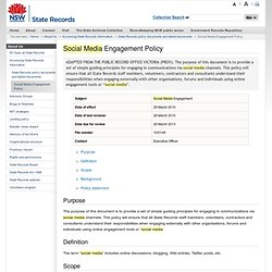 Done - Social Media Engagement Policy