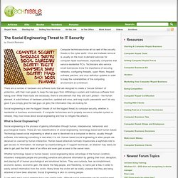 The Social Engineering Threat to IT Security