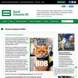 Social enterprise FAQs / About