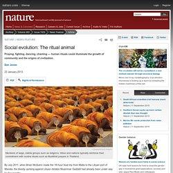 Social evolution: The ritual animal