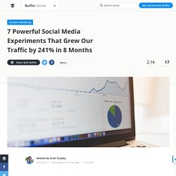 7 Powerful Social Media Experiments That Grew Our Traffic by 241%