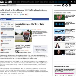 A First Look at Social Reader, WaPo's New Facebook App | Epicenter