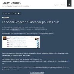 Le Social Reader de Facebook pour les nuls