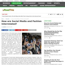 How are Social Media and Fashion Interrelated?