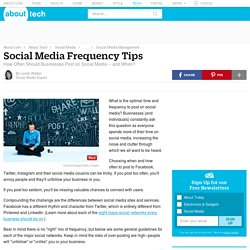 Social Media Frequency: How Often Should Businesses Post on Social Media?