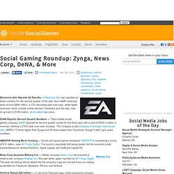 Social Gaming Roundup: Zynga, News Corp, DeNA, & More