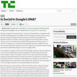 Is Social In Google's DNA?