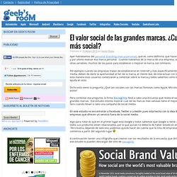 El valor social de las grandes marcas. ¿Cuál es más social?