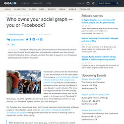 Who owns your social graph — you or Facebook?