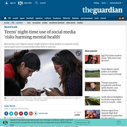 Teens' night-time use of social media 'risks harming mental health'