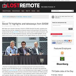 Social TV highlights and takeaways from SXSW