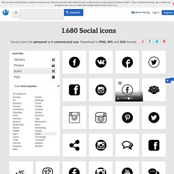 Social icons, +1,600 free files in PNG, EPS, SVG format