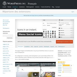 Menu Social Icons — WordPress Plugins