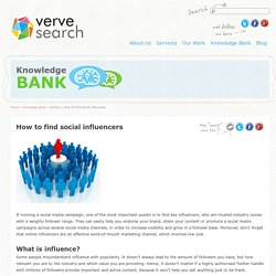 How to find social influencers - VerveSearch