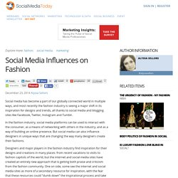 Social Media Influences on Fashion
