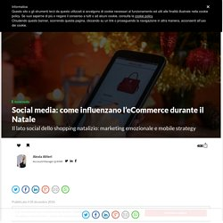 Social media: come influenzano l'eCommerce durante il Natale