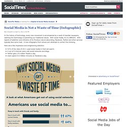Social Media is Not a Waste of Time [Infographic]