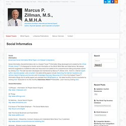 Social Informatics Subject Tracer™ Information Blog