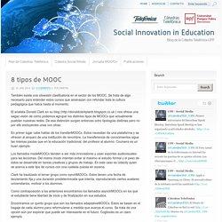 8 tipos de MOOC El analista Donald Clark