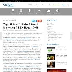 Top 100 Social Media, Net Mktng Blogs – 2011