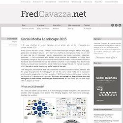 Social Media Landscape 2013