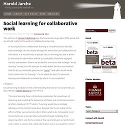 Social learning for collaborative work